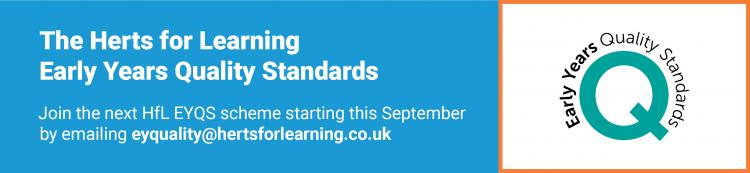 Early Years Quality Standards banner
