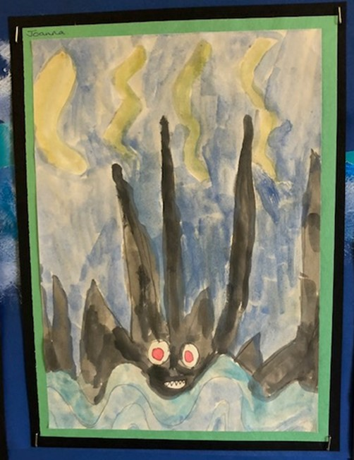 child's painting of Black Rock