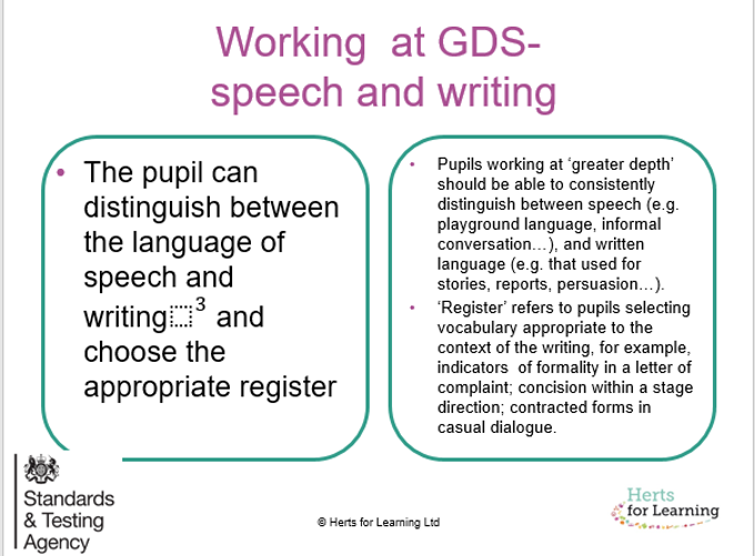 The long and the short of GDS in Year 6 writing | Herts for Learning