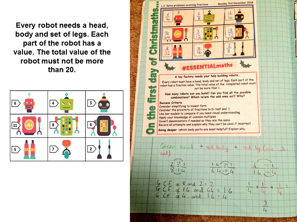 robot maths problem