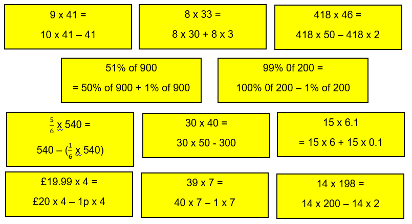 SATs questions distributive