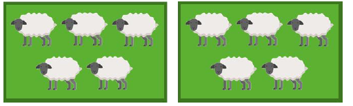 10 sheep divided by 2
