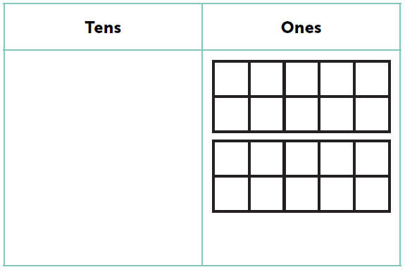 place value mat with embedded tens frame
