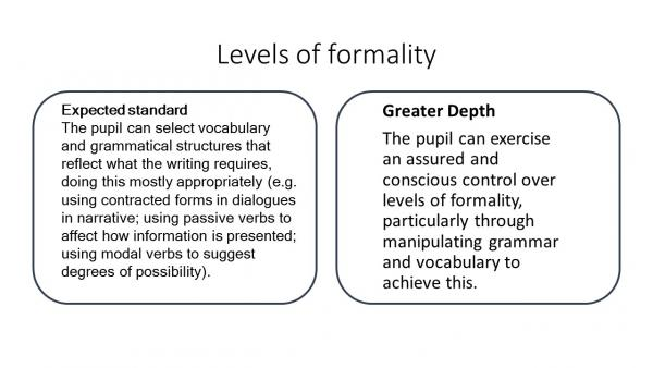 Levels of formality