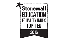 Stonewall Education Equality Index Top 10 - 2016