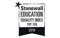 Stonewall Education Equality Index Top 10 - 2019
