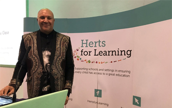 Chris Lubbe at HfL Primary Heads Conference 2019