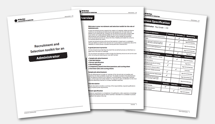 Recruitment and selection toolkit for an administrator (H3