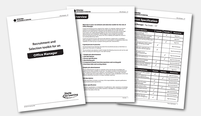 Recruitment and selection toolkit for an office manager