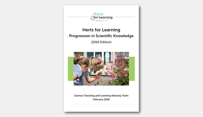 Progression in scientific knowledge booklet