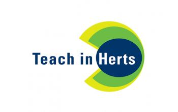 Teach in Herts logo